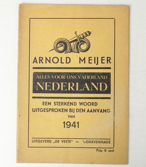 Zwart Front / Nationaal Front, Arnold Meijer, Alles voor het Vaderland Nederland brochure (1941)