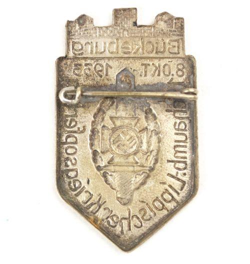 1. Schaumburg Lippischer Kriegsopfertag 8. Oktober 1933 Bückeburg badge