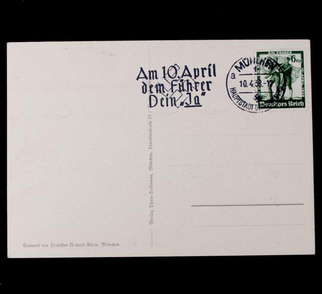Austria Anschluss 13 März 1938 postcard