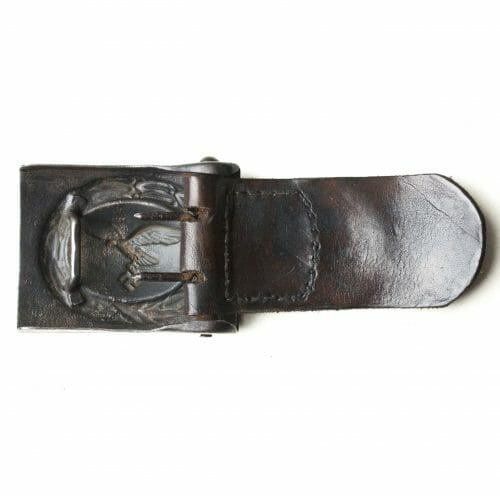 Luftwaffe buckle with leather tab (H. Aurich Dresden 1942)