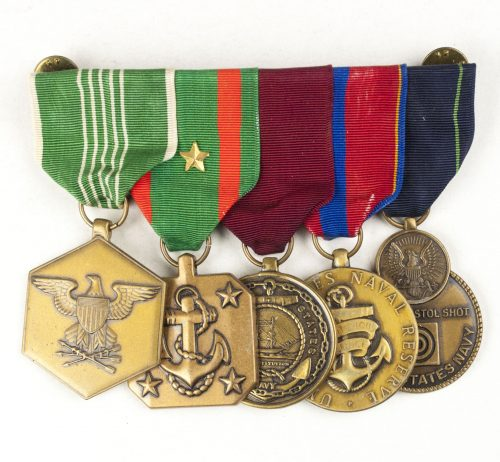 USA Medalbar with Military Merit medal, US Navy & Marine Corps Achievement Medal, Navy Marine Corps Good Conduct medal, et cetera