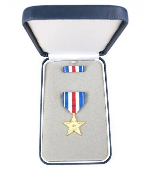 USA Silver Star in case + ribbon