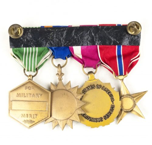 USA medalbar with Bronze Star, Meritorious Service medal, Air medal and Militart Merit medal