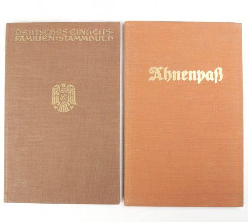 Ahnenpass + Deutsches Einheits Familienbuch Stammbuch