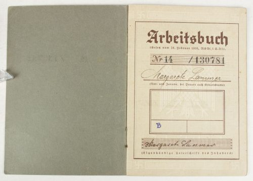 Arbeitsbuch 1st type from Breslau
