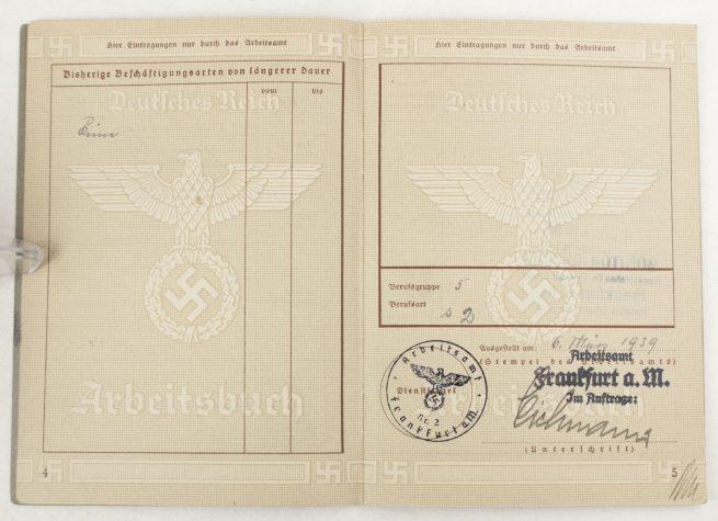 Arbeitsbuch second type from Frankfurt (1939)