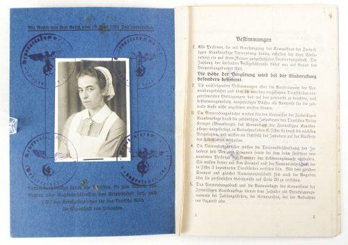 DRK - Deutsche Rote Kreuz Schwester Verwendungsbuch