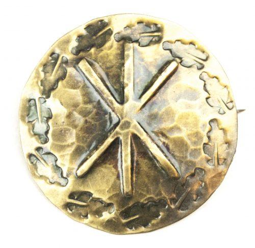 German WWII female cultural rune brooch with Hagall-rune