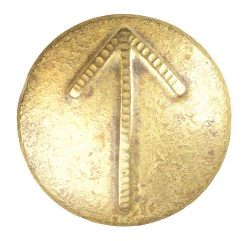 German WWII female cultural rune brooch with Tyr-rune