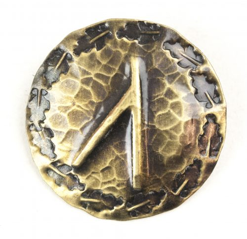 German WWII female cultural rune brooch with Ur/Uruz-rune