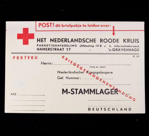 Het Nederlandsche Roode Kruis M-Stammlager Kriegsgefangenensendung card