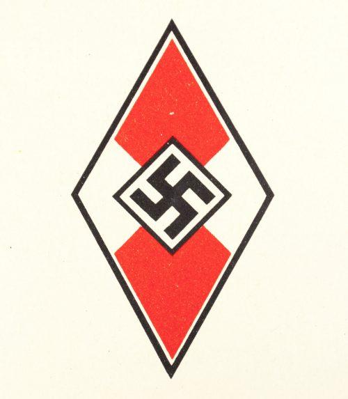 Hitlerjugend (HJ) Aufnahme Urkunde 1939