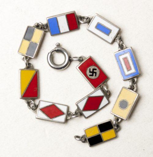 KDF Armband (Kraft durch Freude) with flags