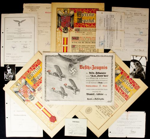 "Legion Condor German 4./Kampfgeschwader ""Boelcke"" document group"