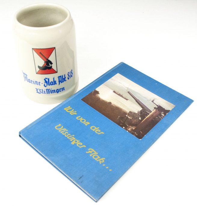Marine Flak Abteilung 818 Vlissingen Beerstein + Wir vom Vlissinger Flak book