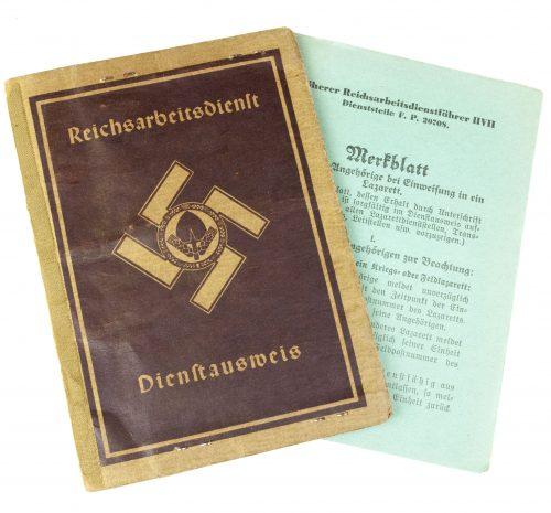 Reichsarbeitsdienst Dienstausweis (with passphoto)