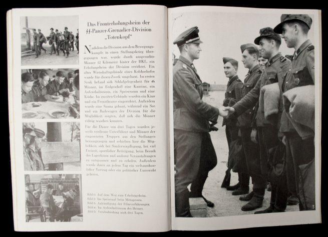 SS-Leitheft 9. Jahrgang Heft 11 (1943) - Theodor Eicke number + Postcard