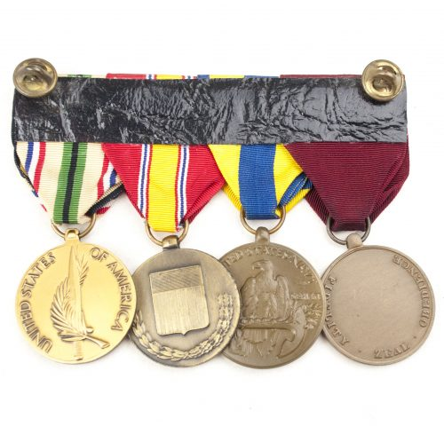 USA Medalbar with Navy Marine Corps Good Conduct medal, Navy Expeditions Medal, National defense medal and Southwest Asia Service medal