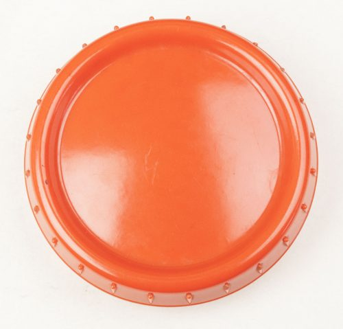Wehrmacht orange bakelite Butterdish/Fettbuchse.