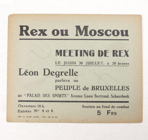 Belgium Rex ou Moscau (Leon Degrelle) 1