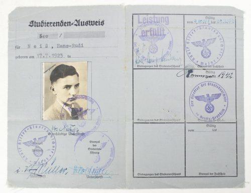 Deutsche Studentenschaft - Studierenden Ausweis with photo