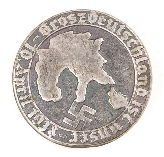 Groszdeutschland ist Unser 10 April 1938 badge