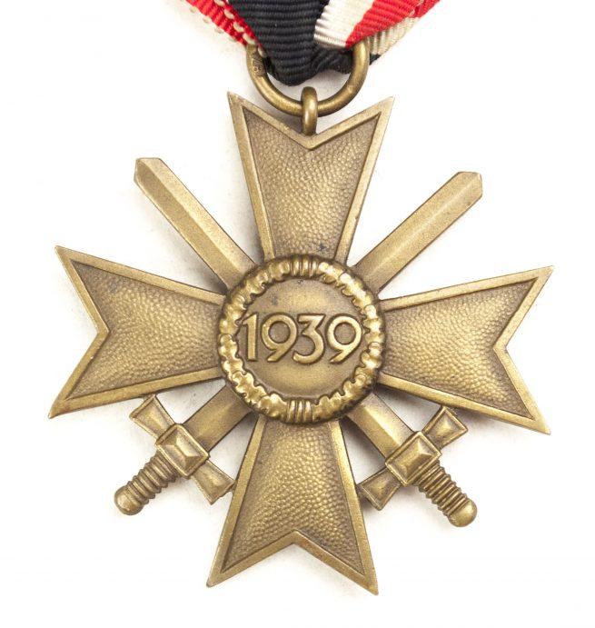 Kriegsverdienstkreuz (KVK) mit Schwerter / War Merit Cross with Swords by maker Roman Palme from Gablonz