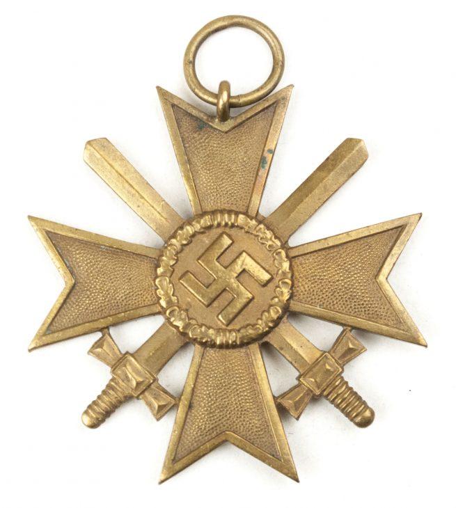 Kriegsverdienstkreuz mit Schwerter (KVK) / War Merit Cross with Swords (maker H. Kreisel from Gablonz)