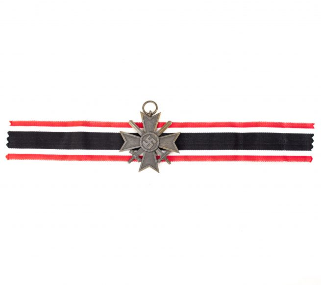 Kriegsverdienstkreuz mit Schwerter (KVK) / War Merit Cross with Swords (maker Moritz Hausch AG. from Pforzheim)