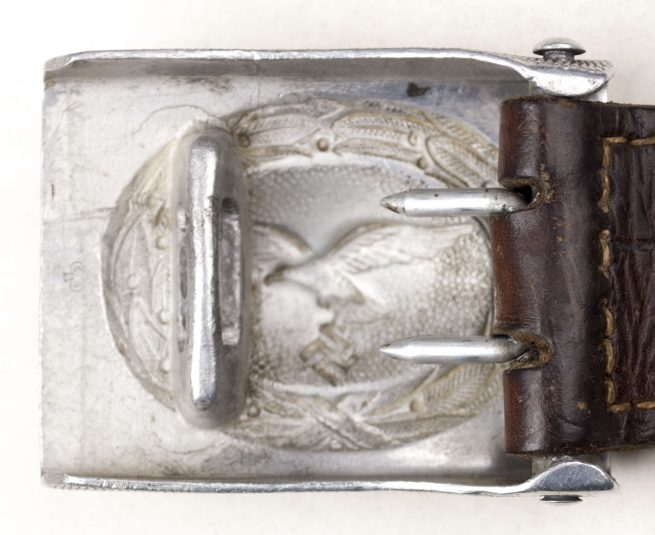 Luftwaffe Buckle (BSW marked) with leather Bruder Schneider tab