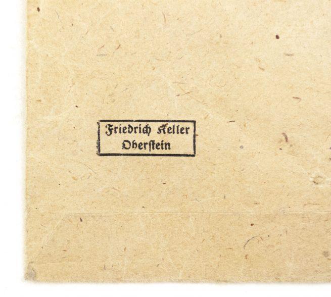 Mutterkreuz / Motherscross with bag by maker Friedrich Keller from Oberstein