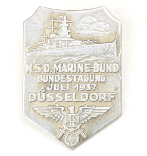 N.S.D. Marine-bund Bundestagung Juli 1937 Düsseldorf badge