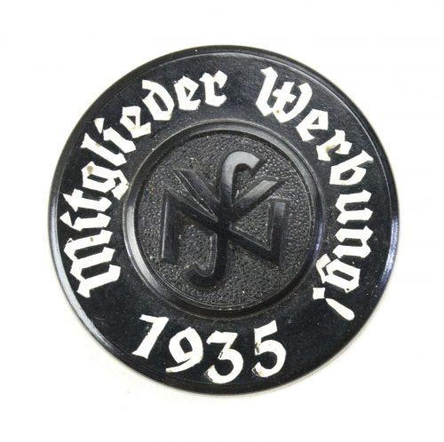 Nationalsozialistische Volkswohlfahrt (NSV) Mitglieder Werbung 1935 badge