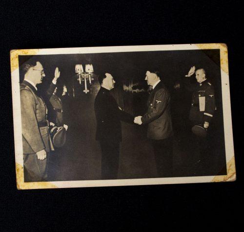 Postcard: Anton Mussert meeting with Adolf Hitler (Photo Hoffman München)