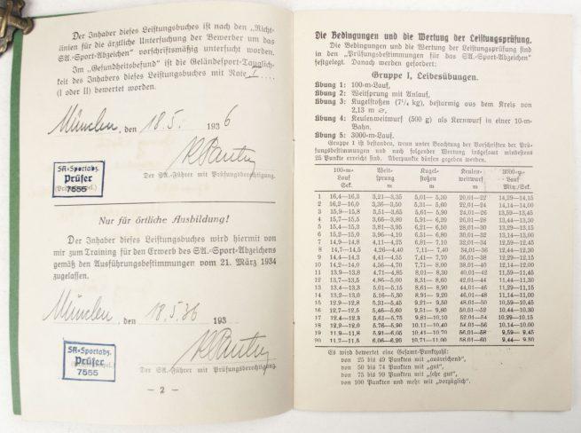 SA Sportabzeichen + SA Leistungsbuch