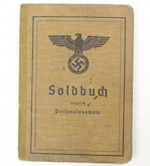Soldbuch + Arbeitsbuch with Iron Cross 1st+2nd Class, Infanterie Sturmabzeichen, Ostmedaille