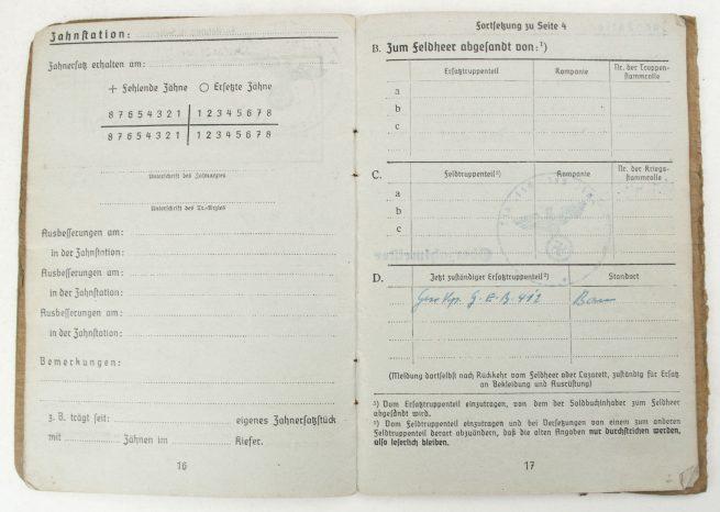 Soldbuch MG unit Infanterie-Ersatz Bataillon 33