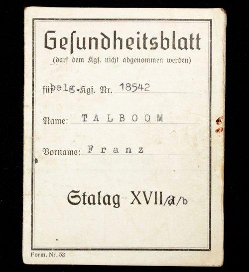 Stalag XVIIb Gesundheitsblatt (pass)