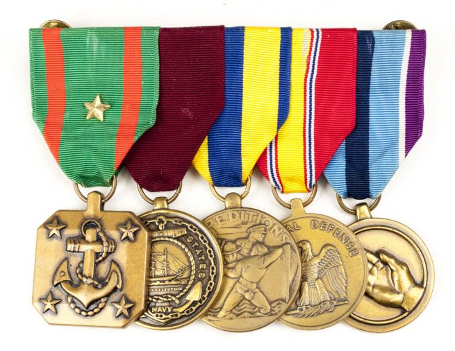 USA Medalbar with US Navy & Marine Corps