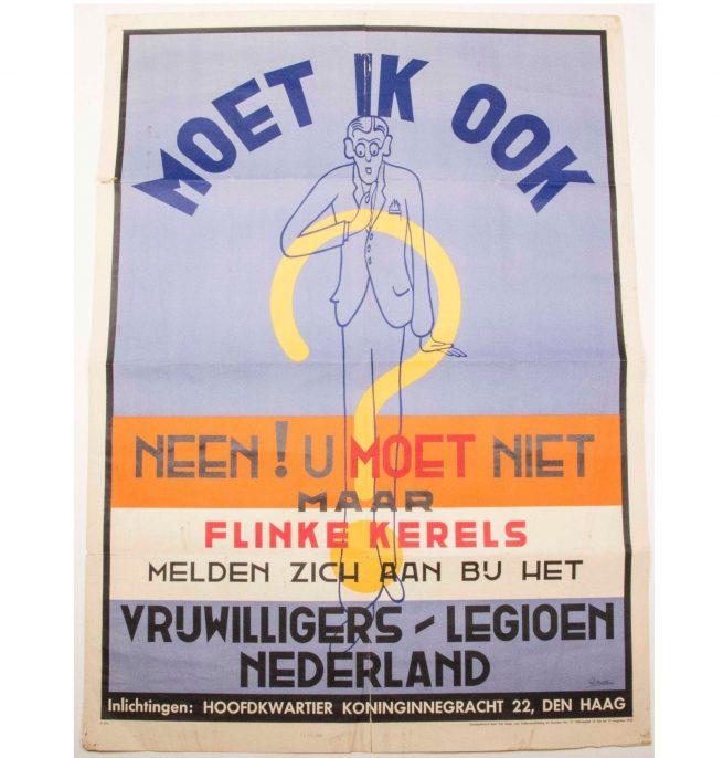Vrijwilligers Legioen Nederland Dutch Waffen-SS Poster (dated 1942)