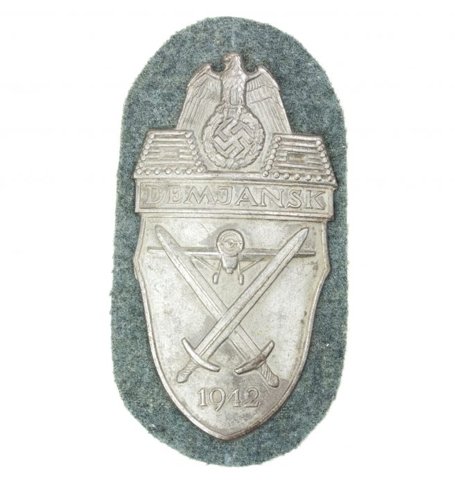 WH (Heer/Waffen-SS) Demjansk Shield by maker Karl Wurster