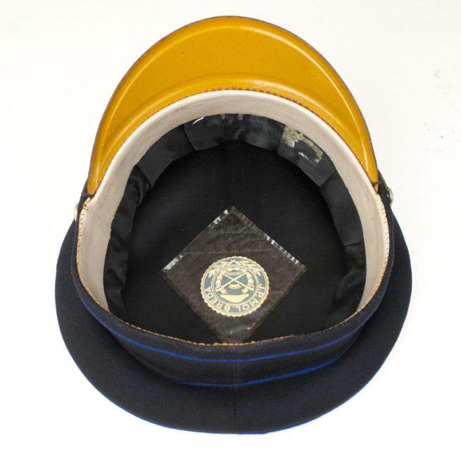 "WW2 Police Dutch ""Schalkhaar Politie"" visor made by J.P. Mol Breda"