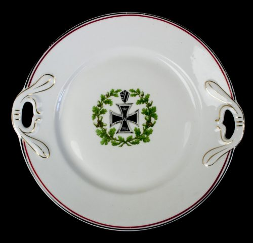 WWI German Patriotic plate with Iron Cross (EK2) design