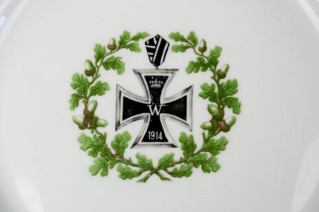 WWI German Patriotic plate with Iron Cross (EK2) design