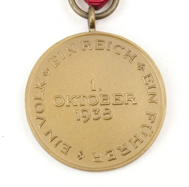 WWII Sudetenland 1938 annexation medal with reverse pin.