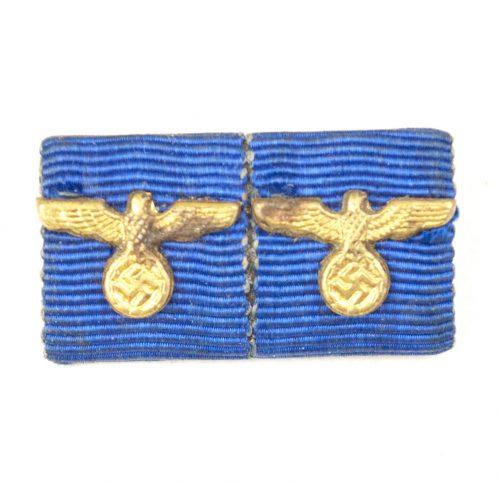WWII Wehrmacht double Dienstauszeichnung ribbon for the 12 + 4 Jahre medal miniatures