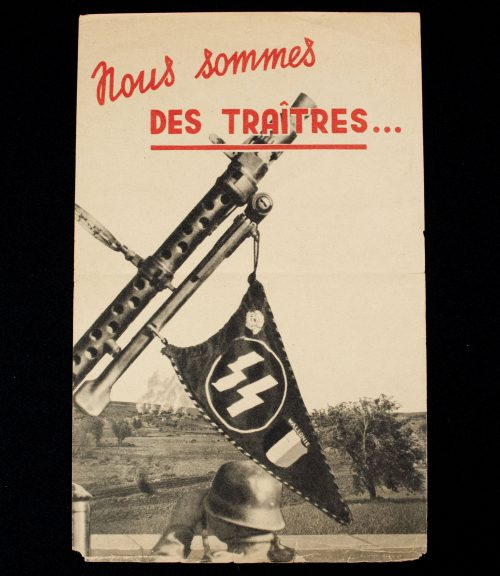 Wallonien 28th SS Volunteer Grenadier Division propaganda leaflet