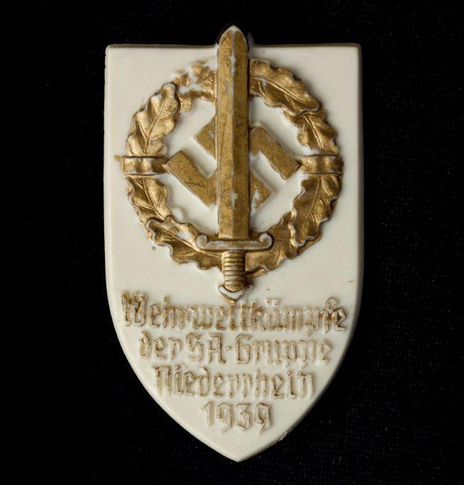 Wehrwettkampftage der SA Gruppe Niederrhein 1939 badge