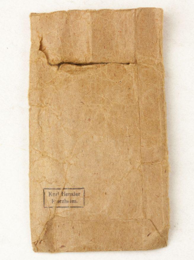 Westwall / Schutzwall medal with bag (by maker Karl Hensler)