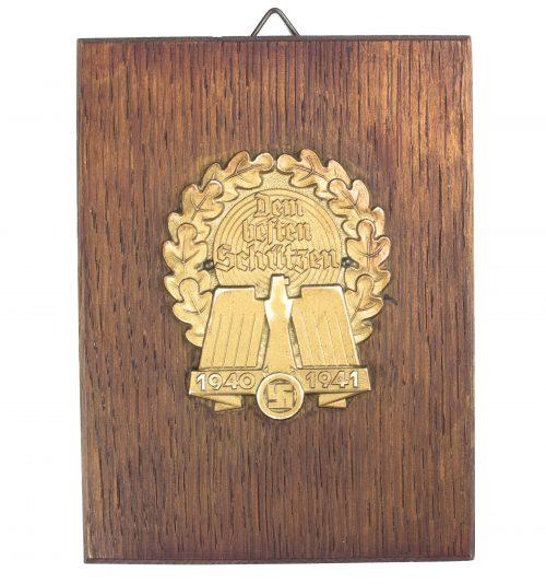 2. Kriegswinterhilfswerk (WHW) - shooting plaque (named!) 1940/1941
